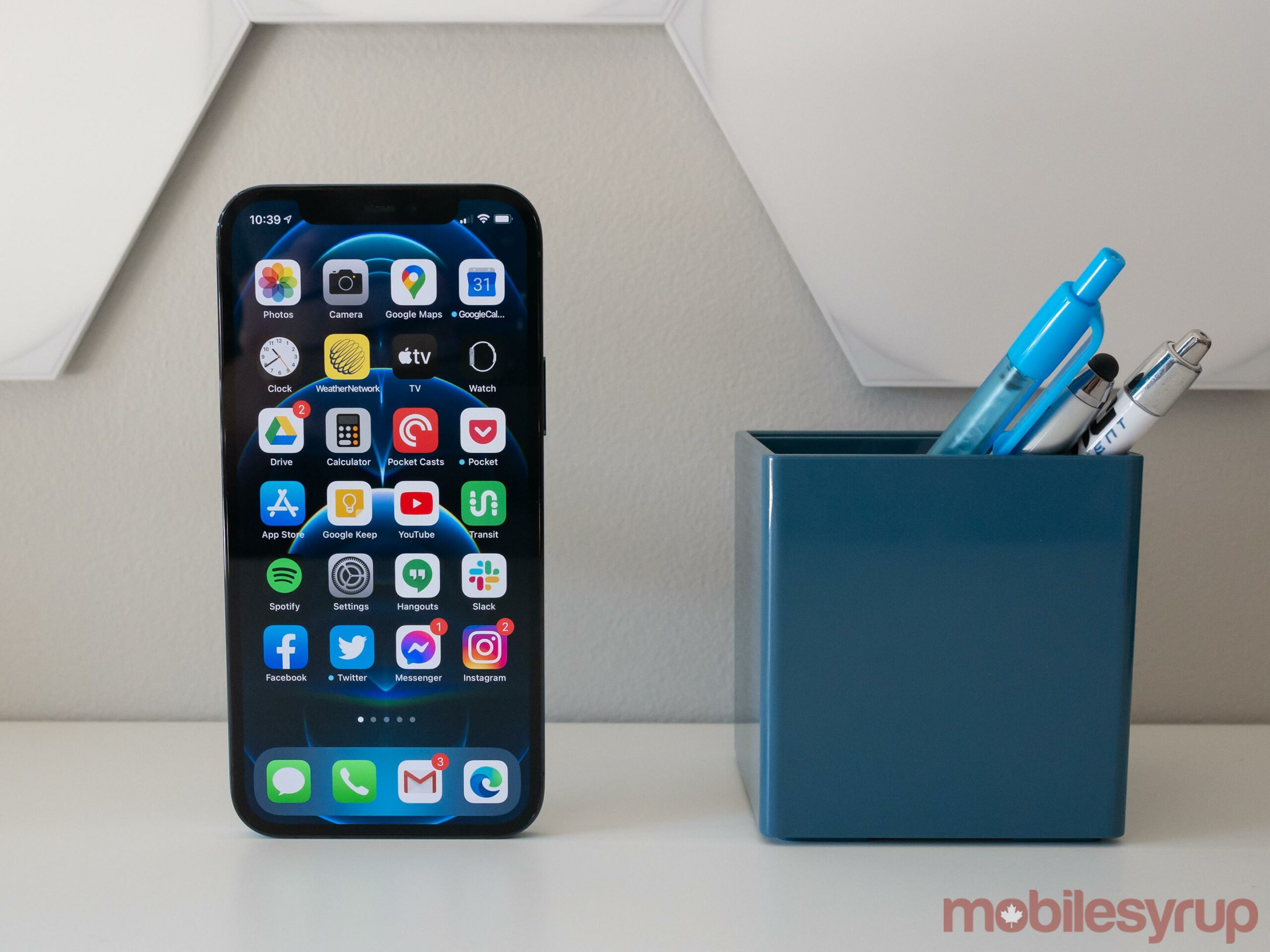 iPhone 12 Pro on a desk