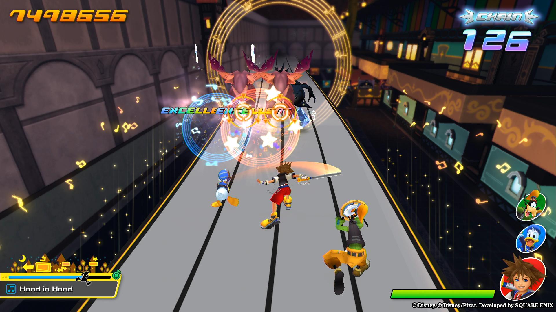 Kingdom Hearts: Melody of Memory gameplay