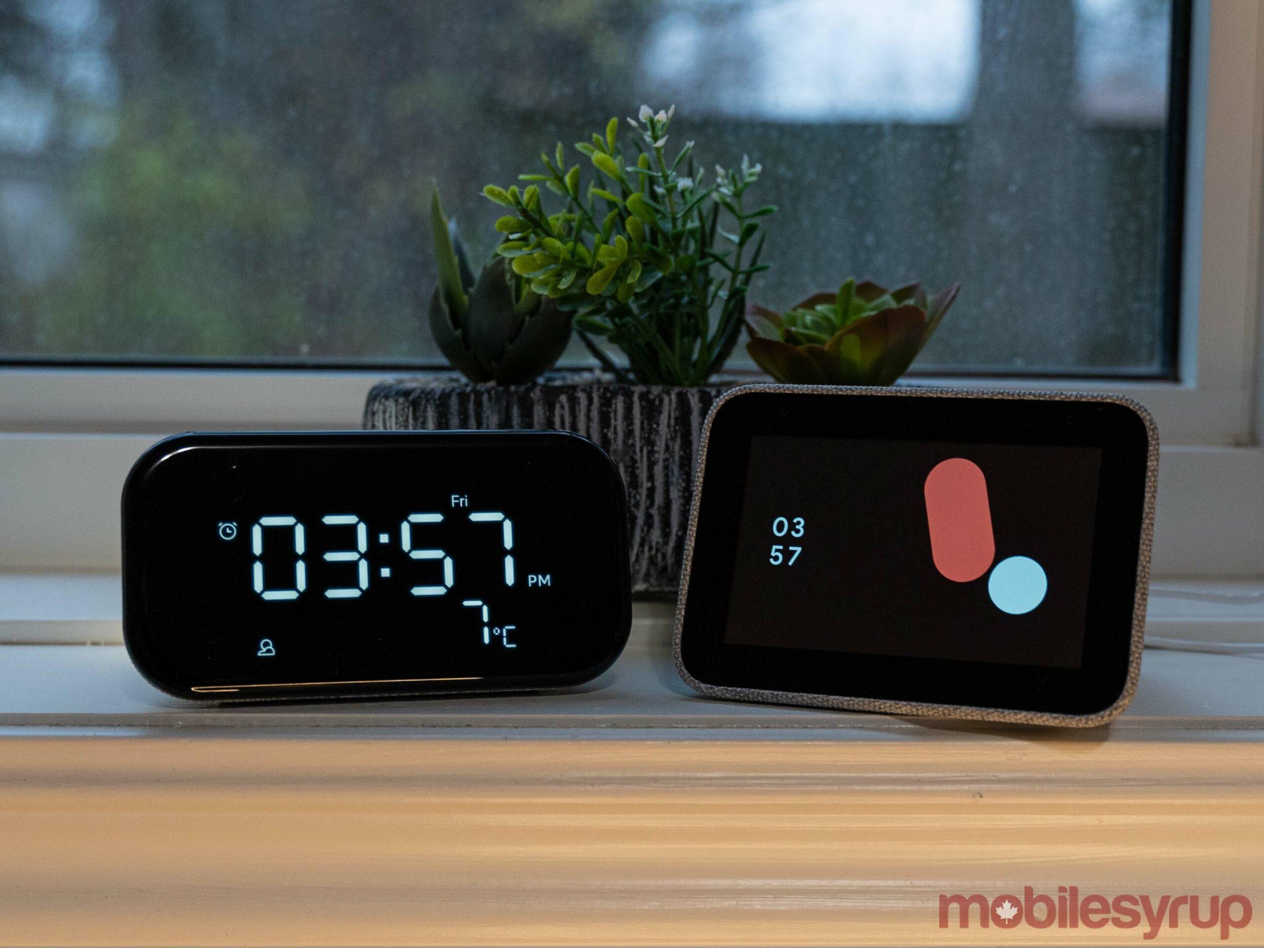 Smart Clock Essential (left) and Smart Clock (right)