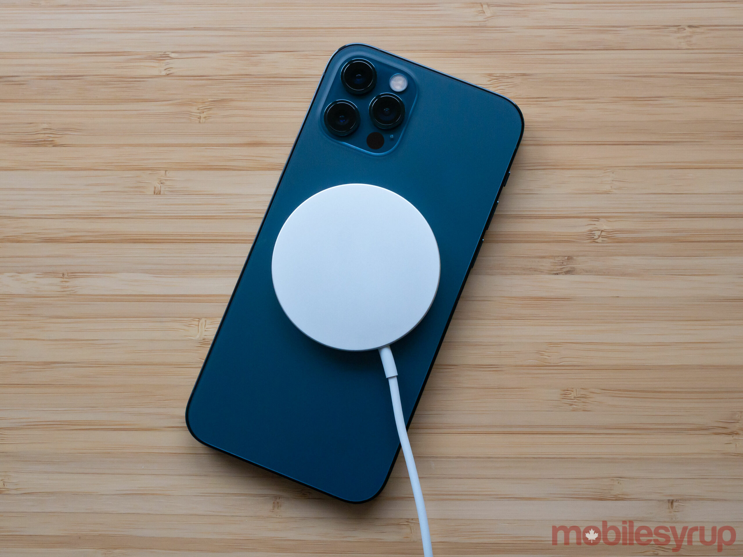 iPhone 12 Pro with MagSafe charger