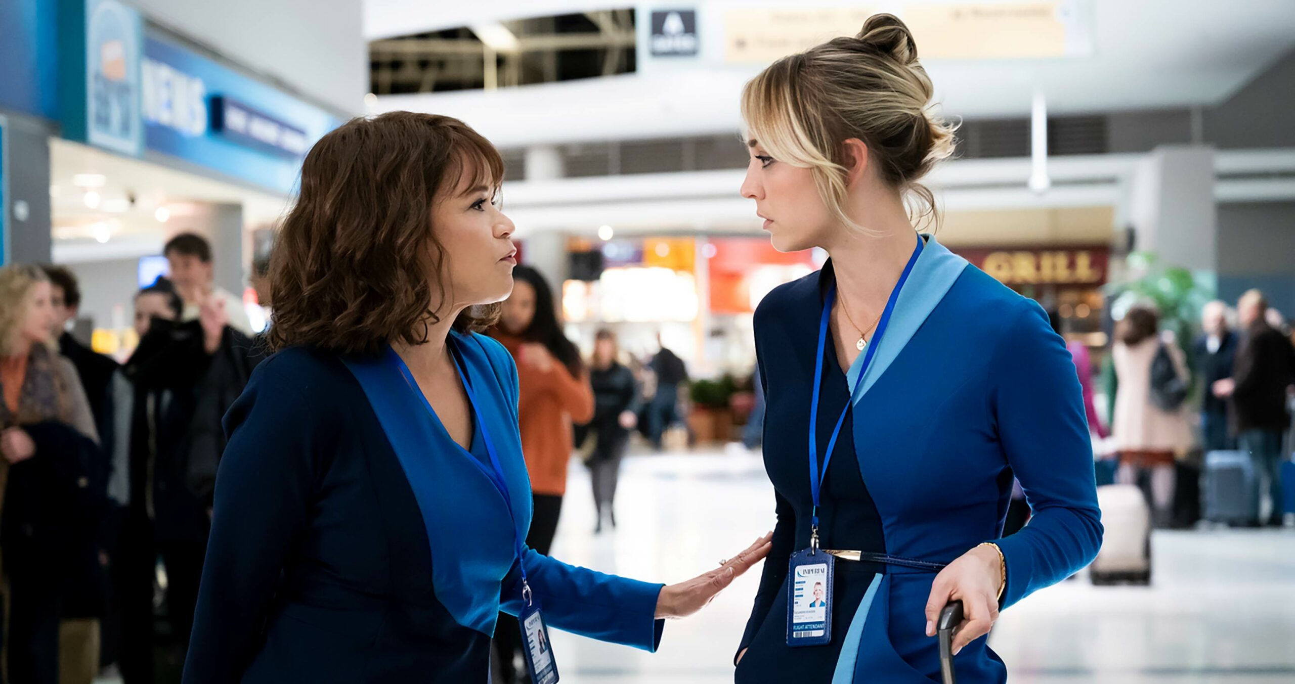 The Flight Attendant Kaley Cuoco and Rosie Perez