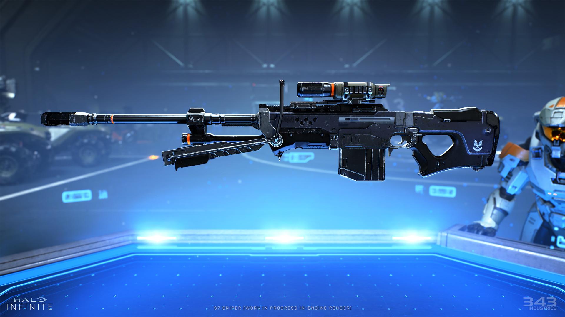 Halo Infinite gun render