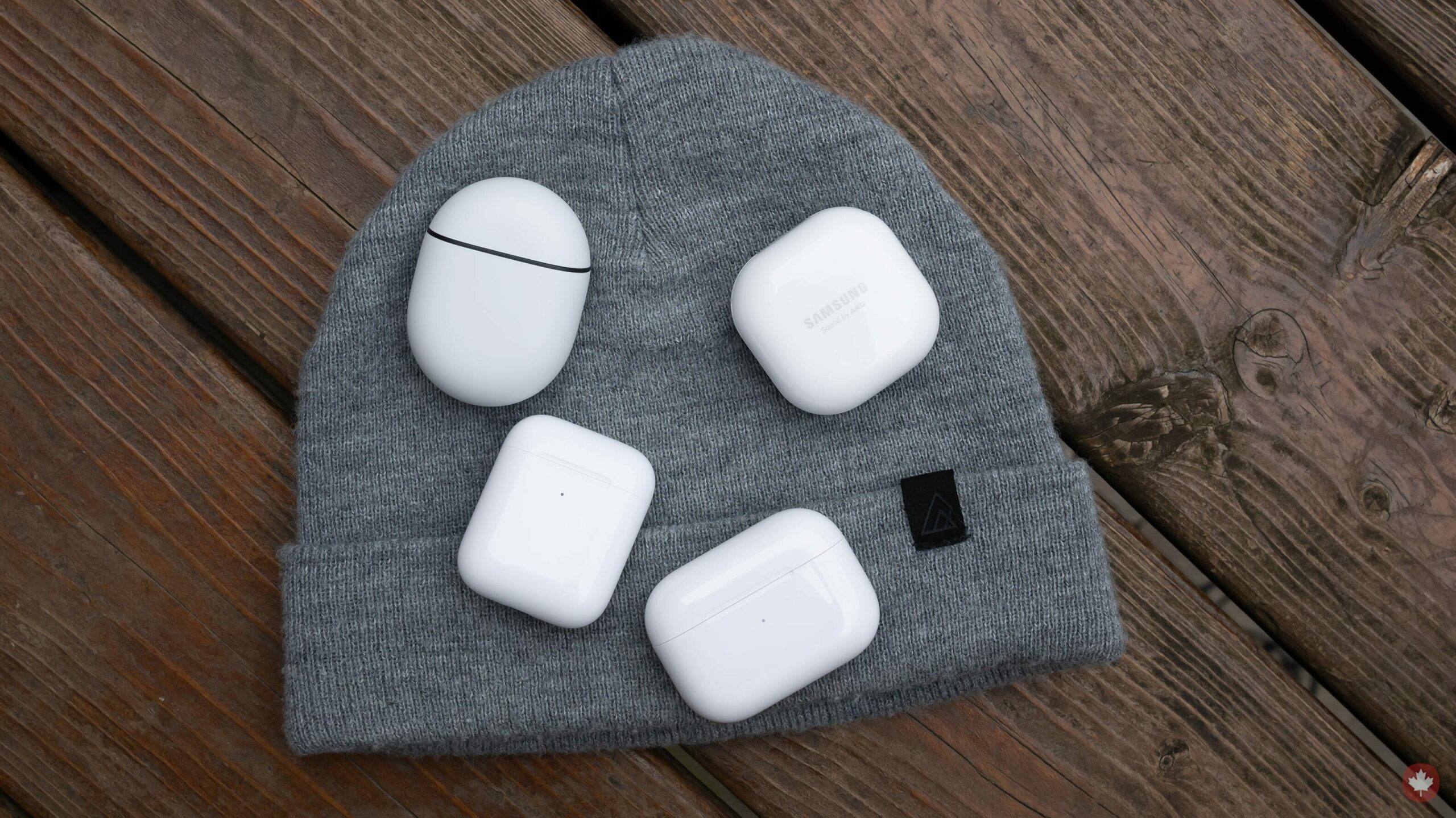Earbuds on a touque