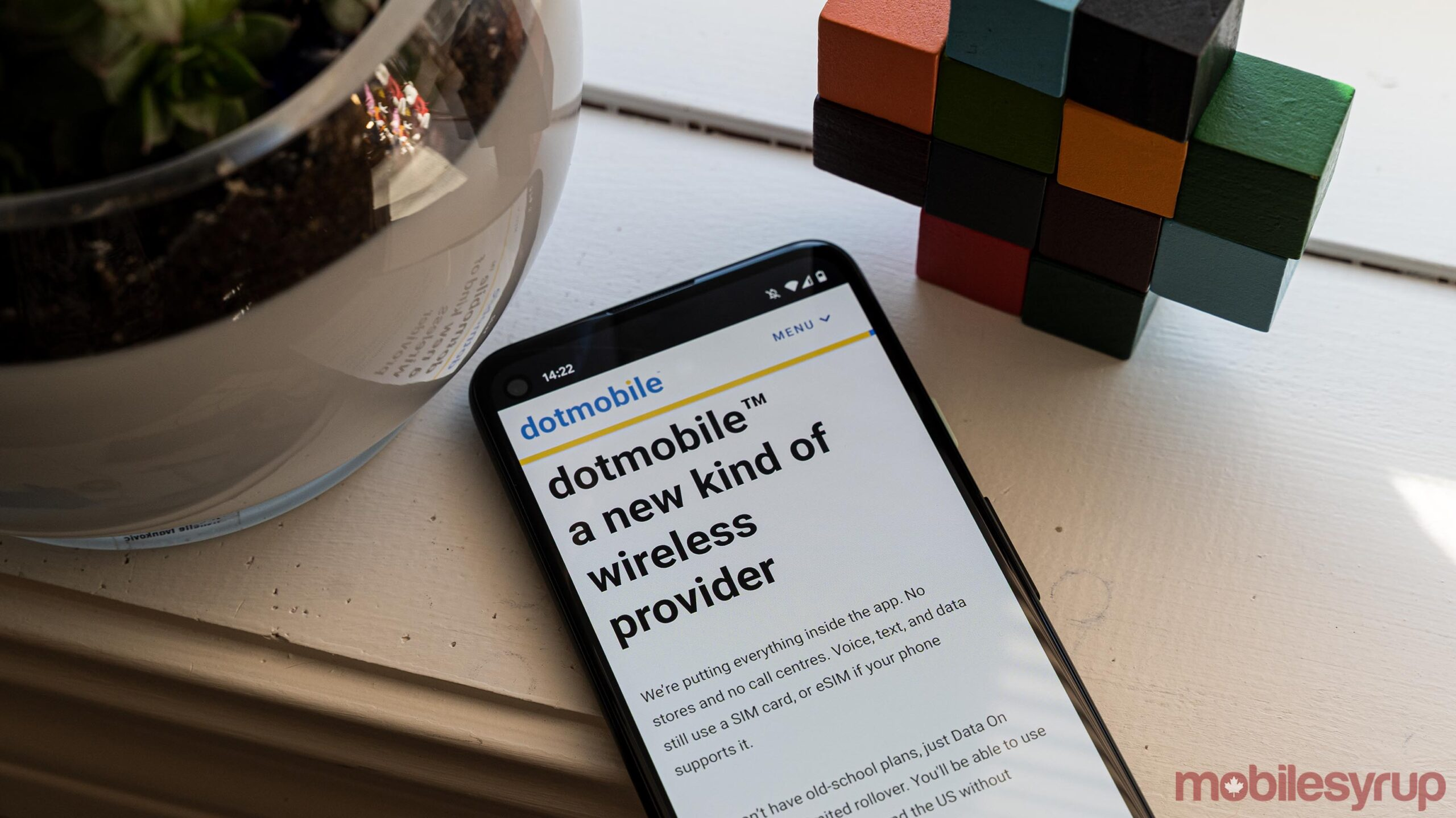 dotmobile website on Android