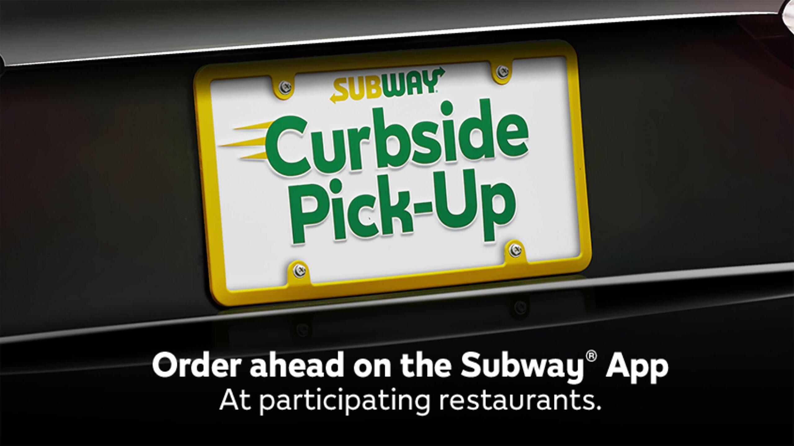 Subway curbside pickup