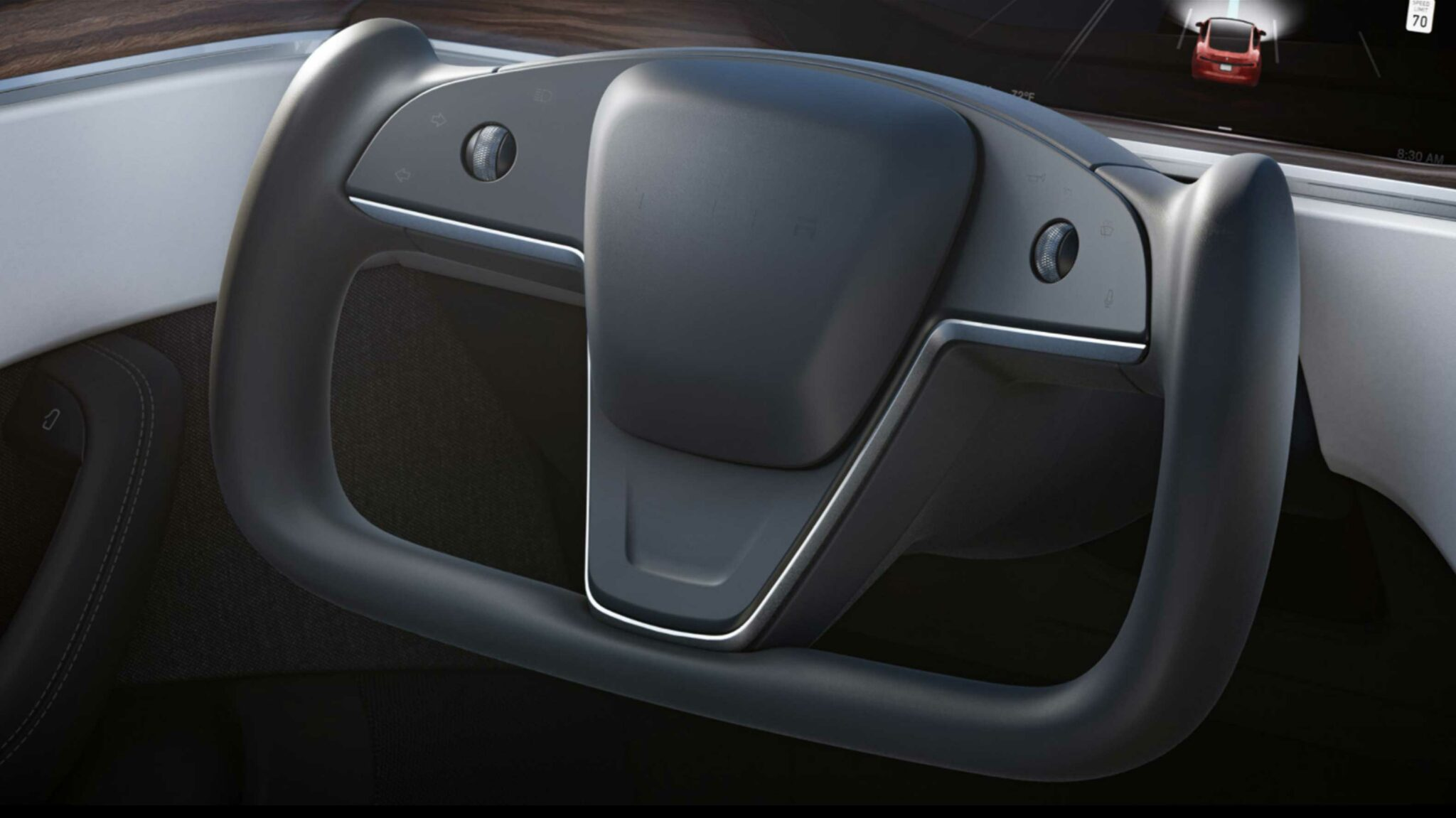 New Steering Wheel Era ? Tesla-steering-wheel-2048x1151