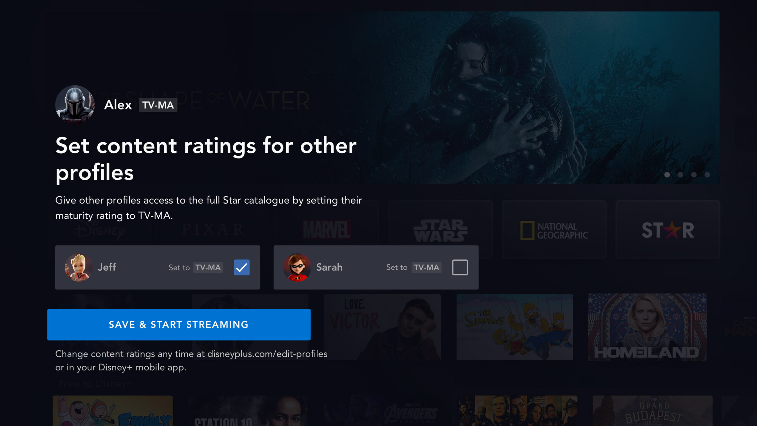 Disney+ Star adult content ratings
