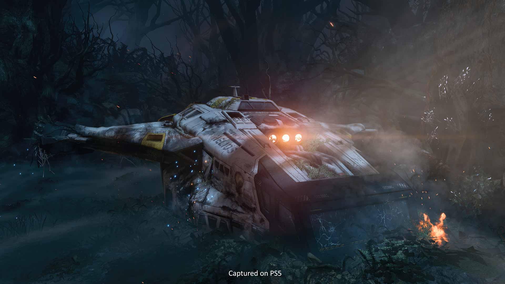 PS5 Returnal crashed ship