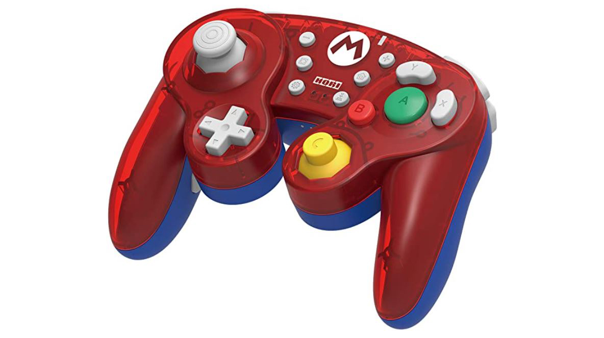 Red wireless Mario controller