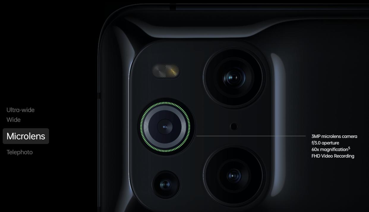 Oppo Find X3 Cameras