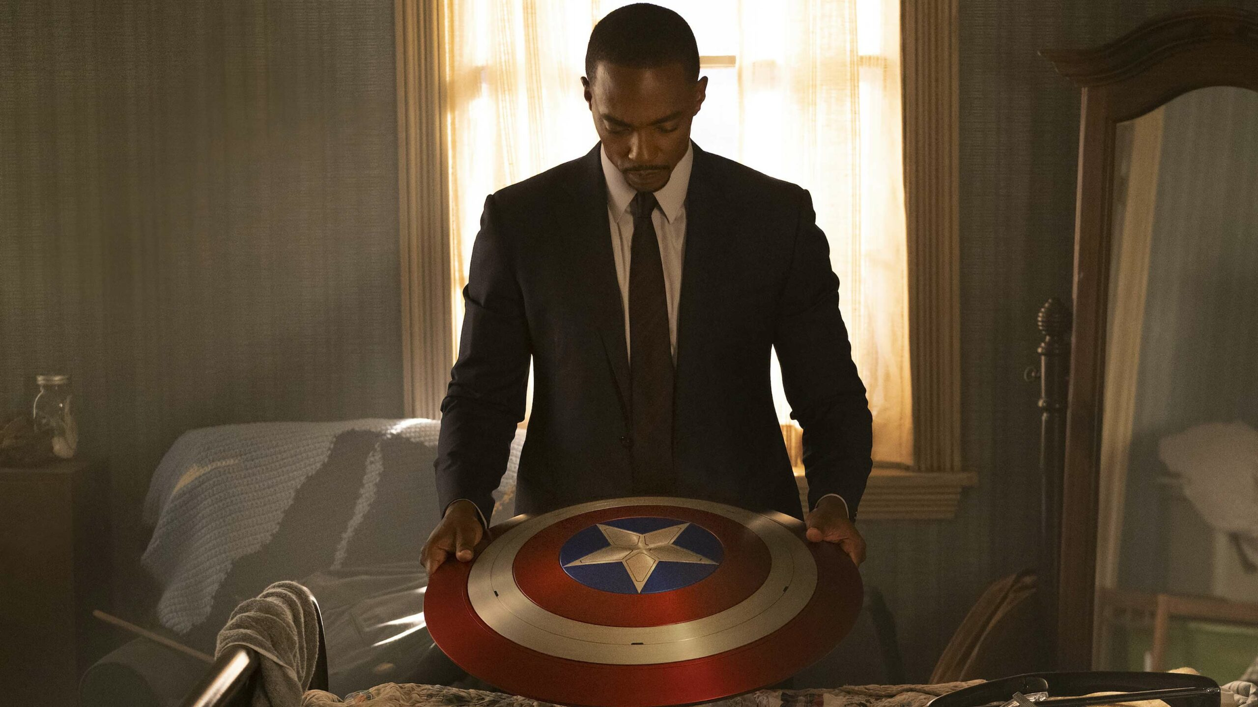 The Falcon and the Winter Soldier Sam with shield