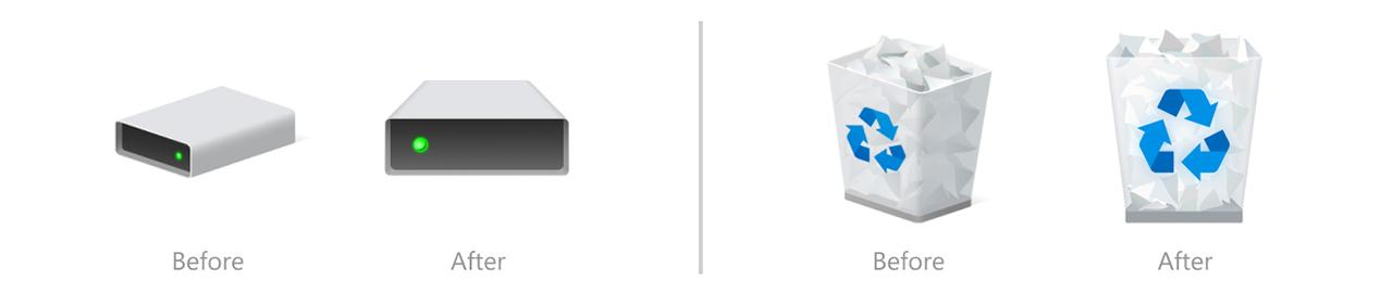 Windows 10 system icons