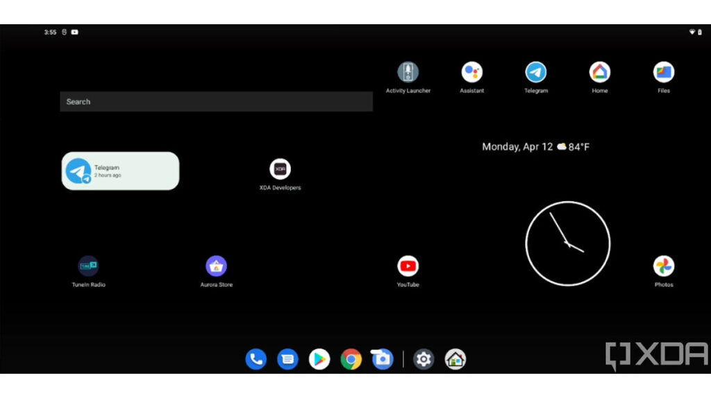 Tablet dual screen homepage