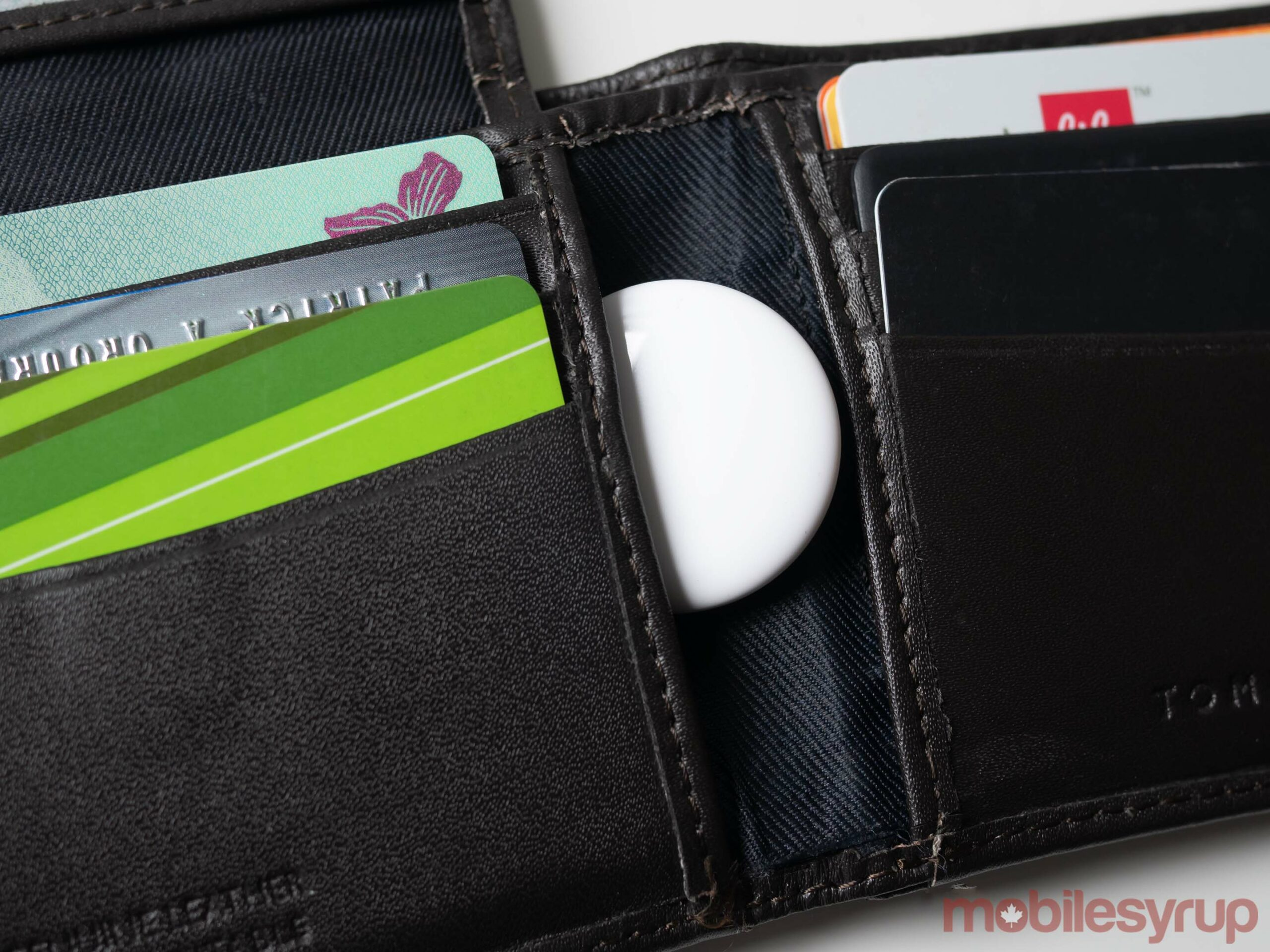 AirTag in a wallet